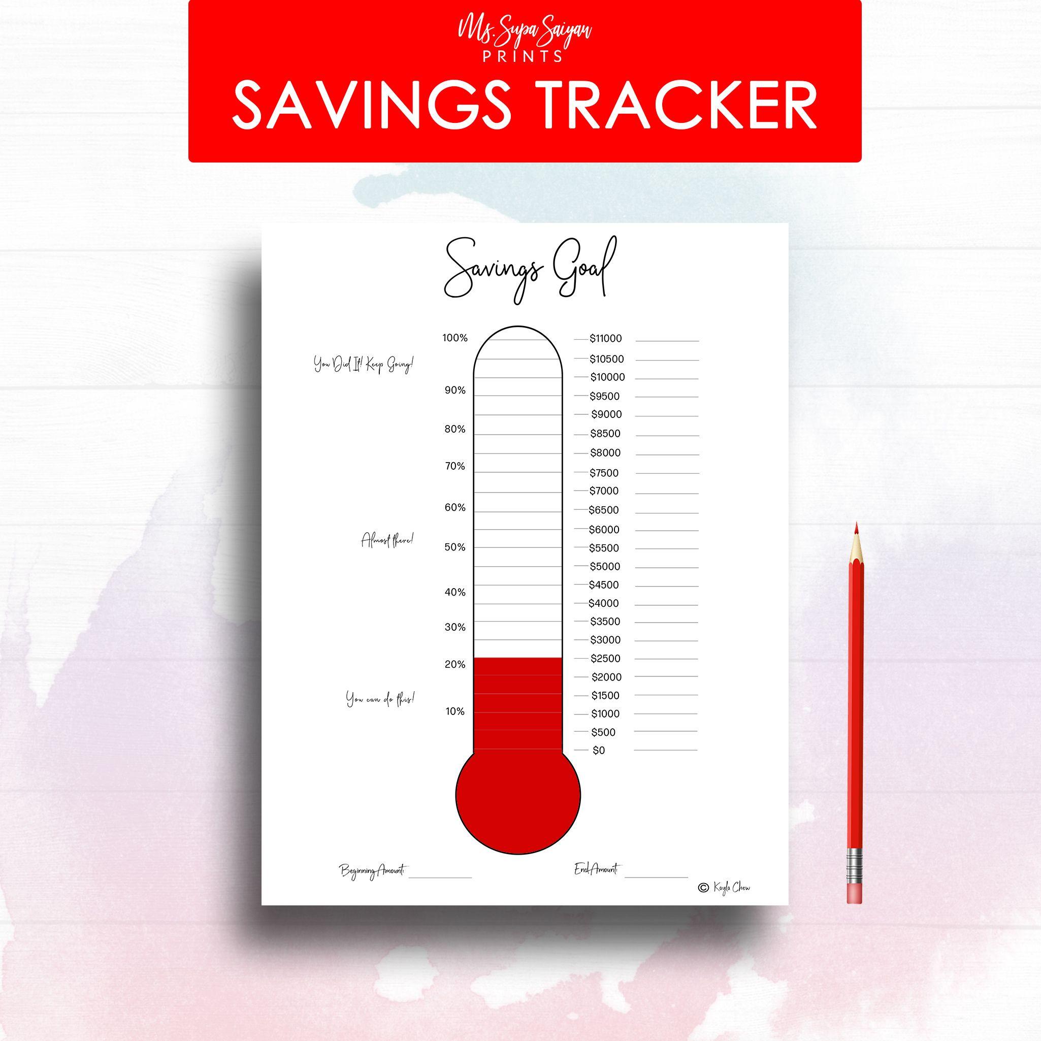 Debt Savings Thermometer Cash Money Envelope Printable