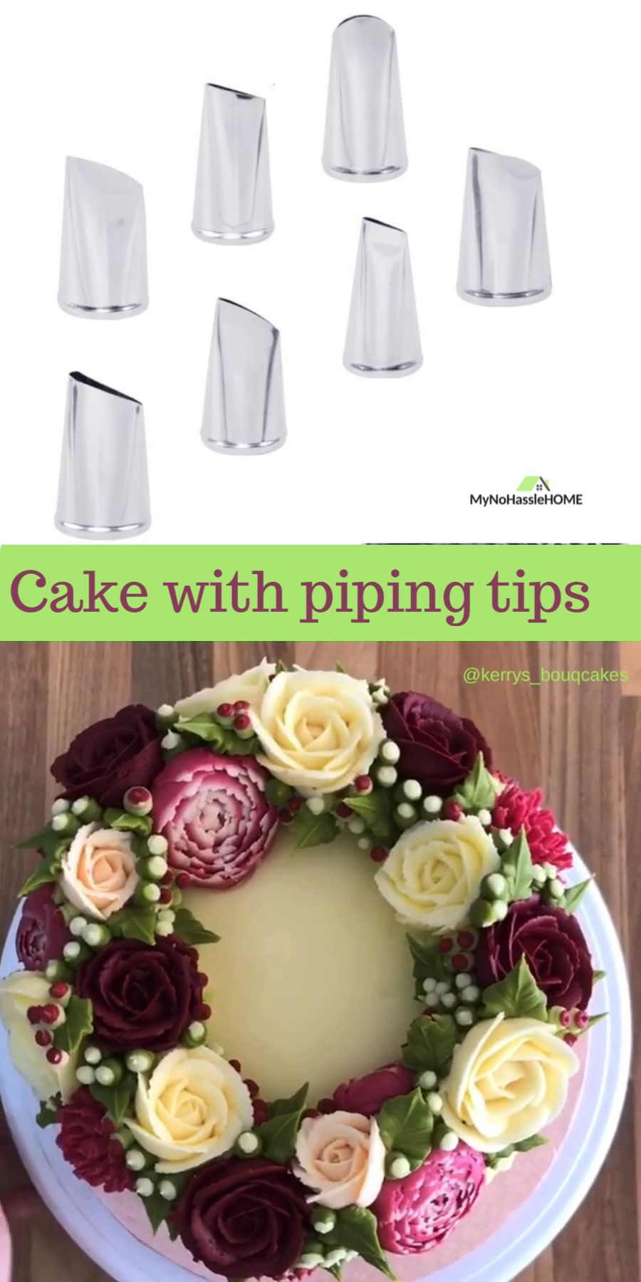Amazing cake decorating with piping tips