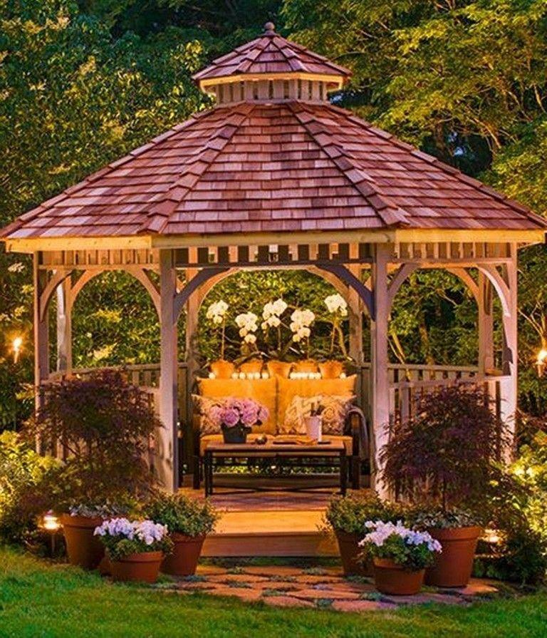 40 Intelgent Diy Backyard Gazebo Design Decoration Ideas Garden