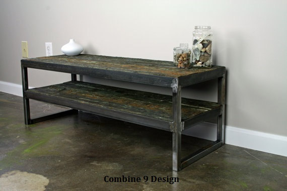 Exceptionnel Vintage Industrial TV Stand. Reclaimed Wood U0026 Steel. Vintage Wood From  Tsunami Destroyed Barge. Minimalist,urban, Design. A Nice TV Console.