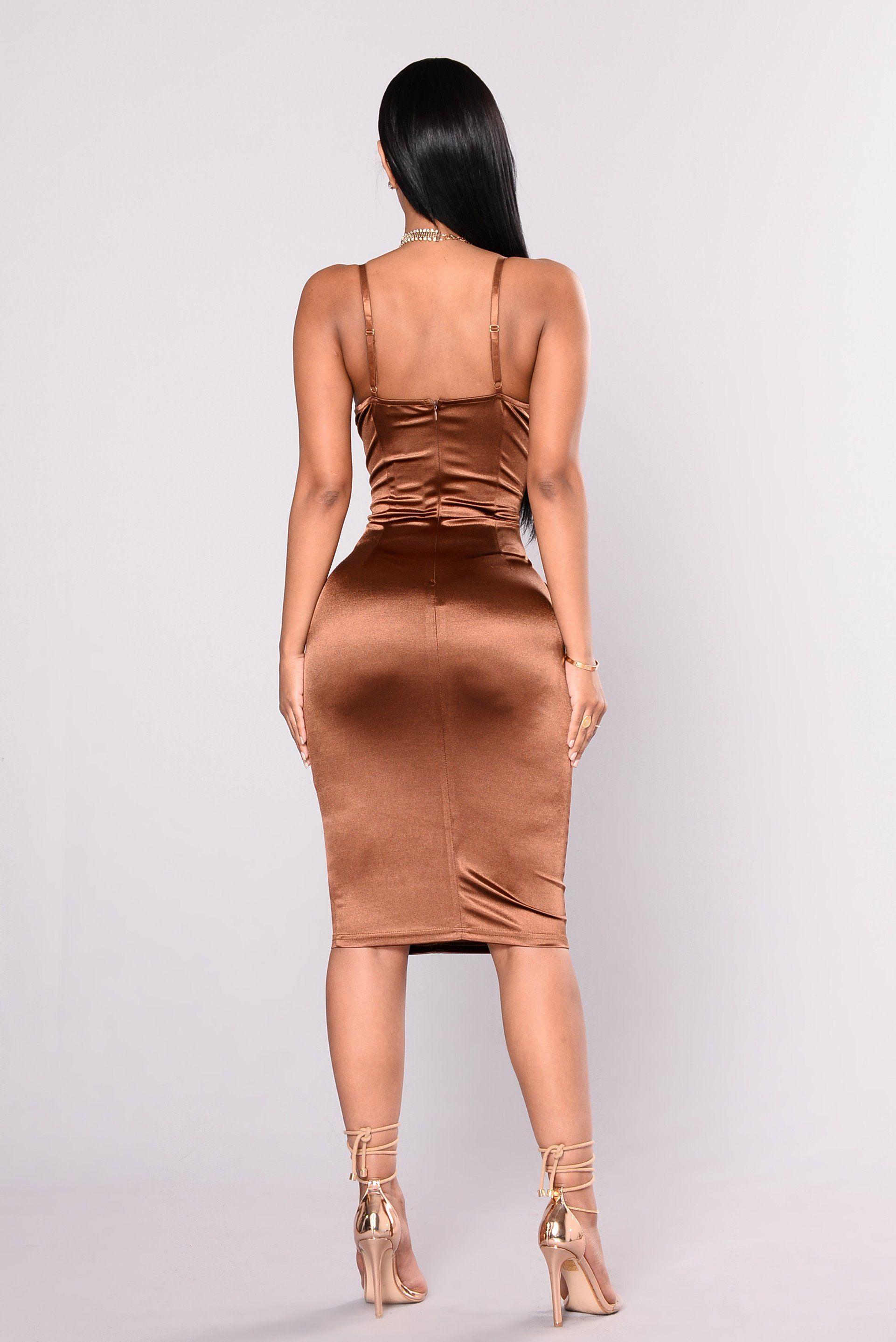 f6ece5711292 Stupid In Love Dress - Chocolate Satin Skirt