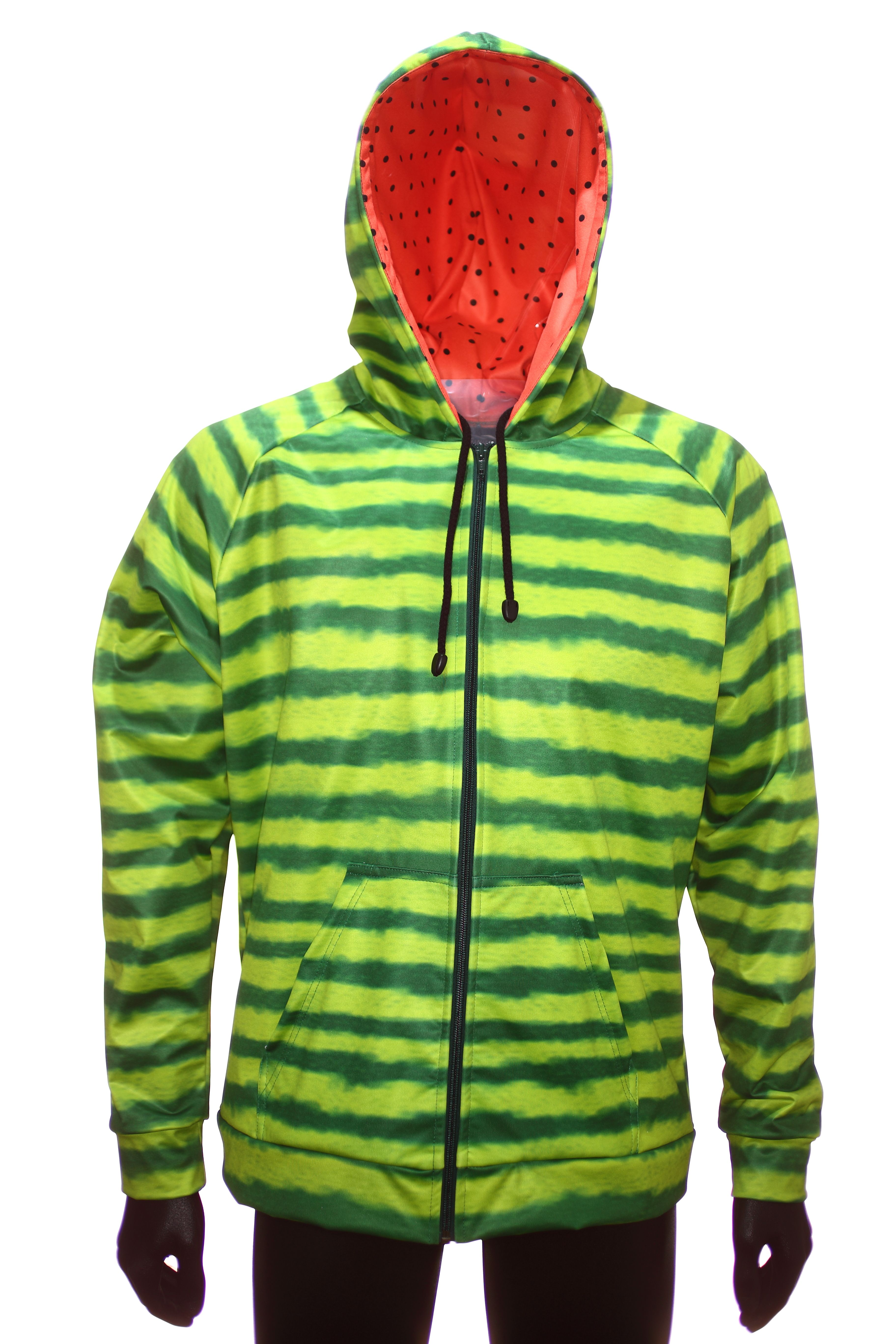 935464e8 Sublimated hoodie. Watermelon design. Printed hoody using dye-sublimation  Begins with white fabric