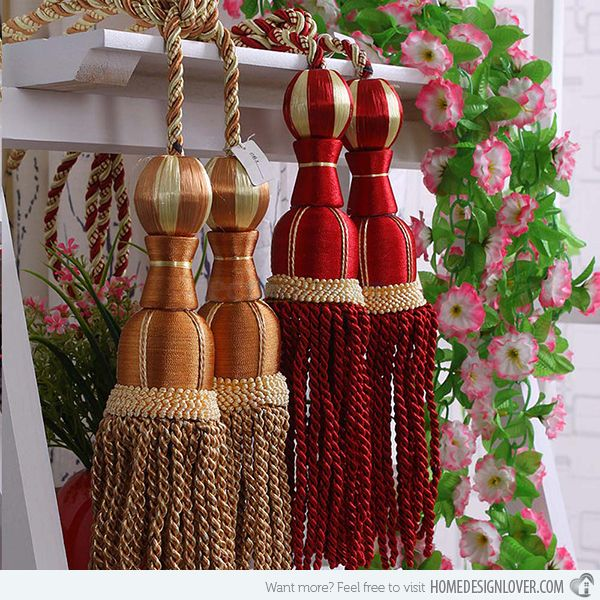 Accessorize Curtains With  Rope And Tassel Tiebacks