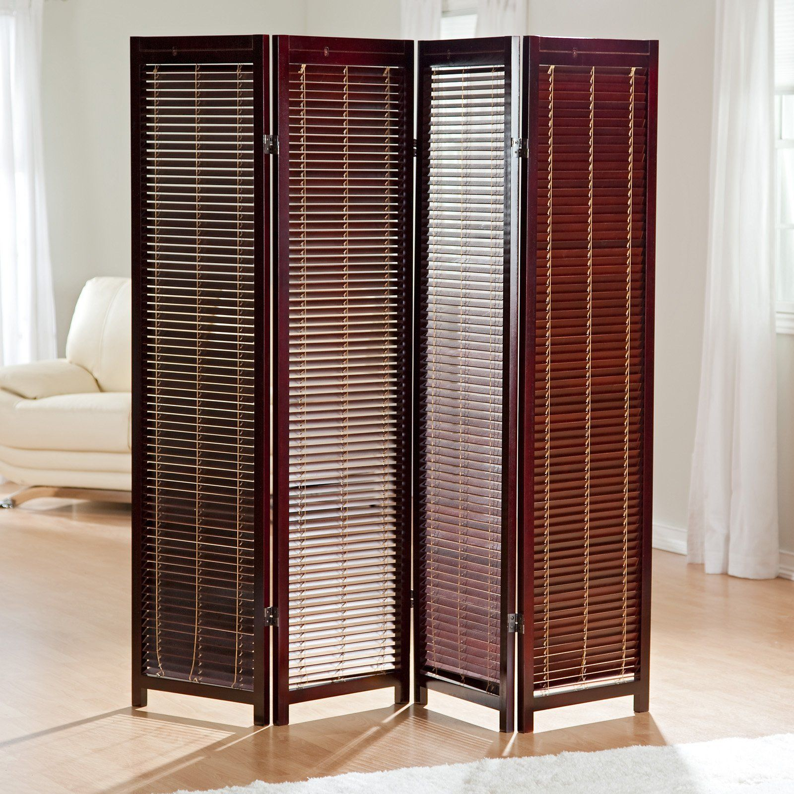 Tranquility Wooden Shutter Screen Room Divider In Rosewood   $139.98 @