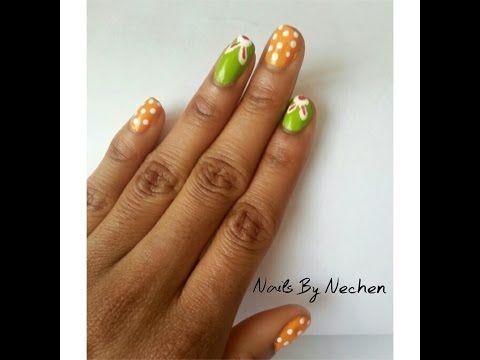 easy easter bunny nail art/ spring nail art  youtube