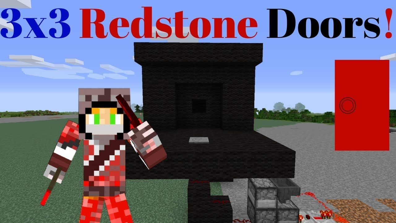 Minecraft 3x3 Redstone Piston Doors Redstone Tutorials Https
