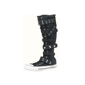 770dd94dbdb1 All Star XX Hi 7 Strap Boots  Tall  Knee High Boots Goth Punk Emo