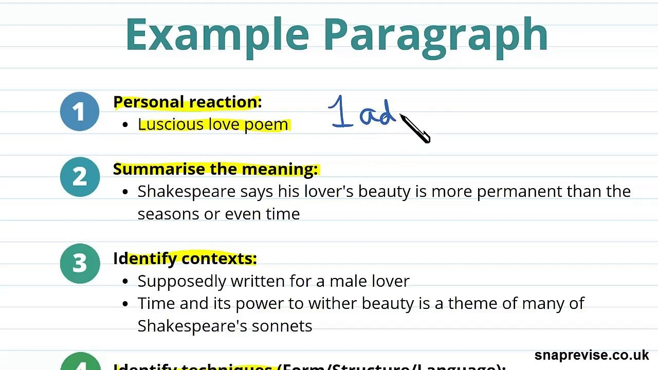 Introduction To Analysing Poetry Part 4 A Level English Literature Aqa Essay Structure