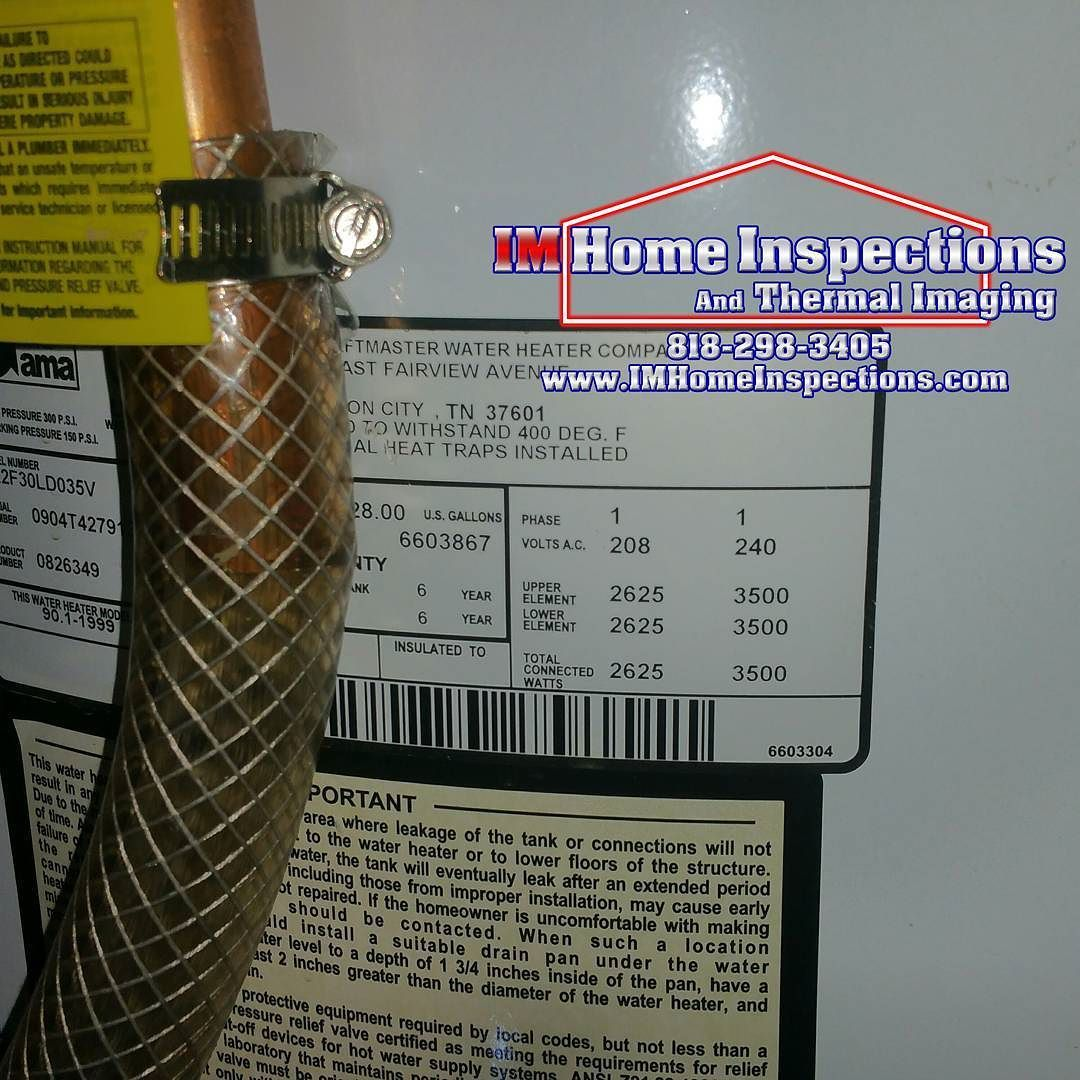 Using braided PVC pipe as a temperature relief valve on a water heater is not safe due to the pipe can melt if the heater were to over heat. #RealEstate #homeinspection #homeinspector #waterheater #homesafety #sanfernandovalleyrealestate #santaclaritarealestate #conejovalleyrealestate