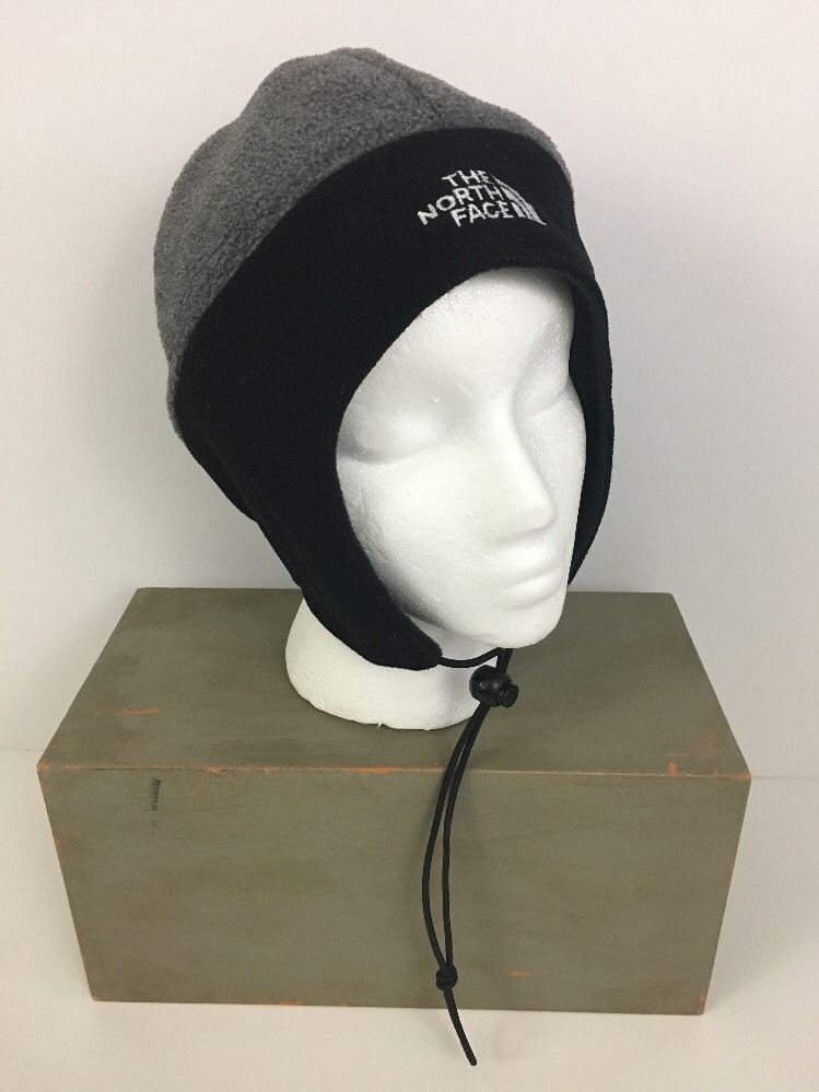 d1fc1590d28 The North Face L Ski Hat Cap Skull Beanie Gore Windstopper Ear Flaps Black  Gray  TheNorthFace  SkullCap