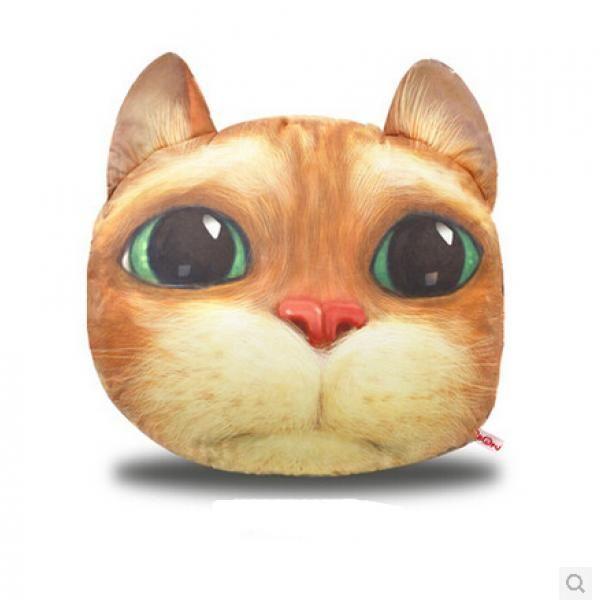 3D cool cat head pillow Garfield large sofa pillows back ...