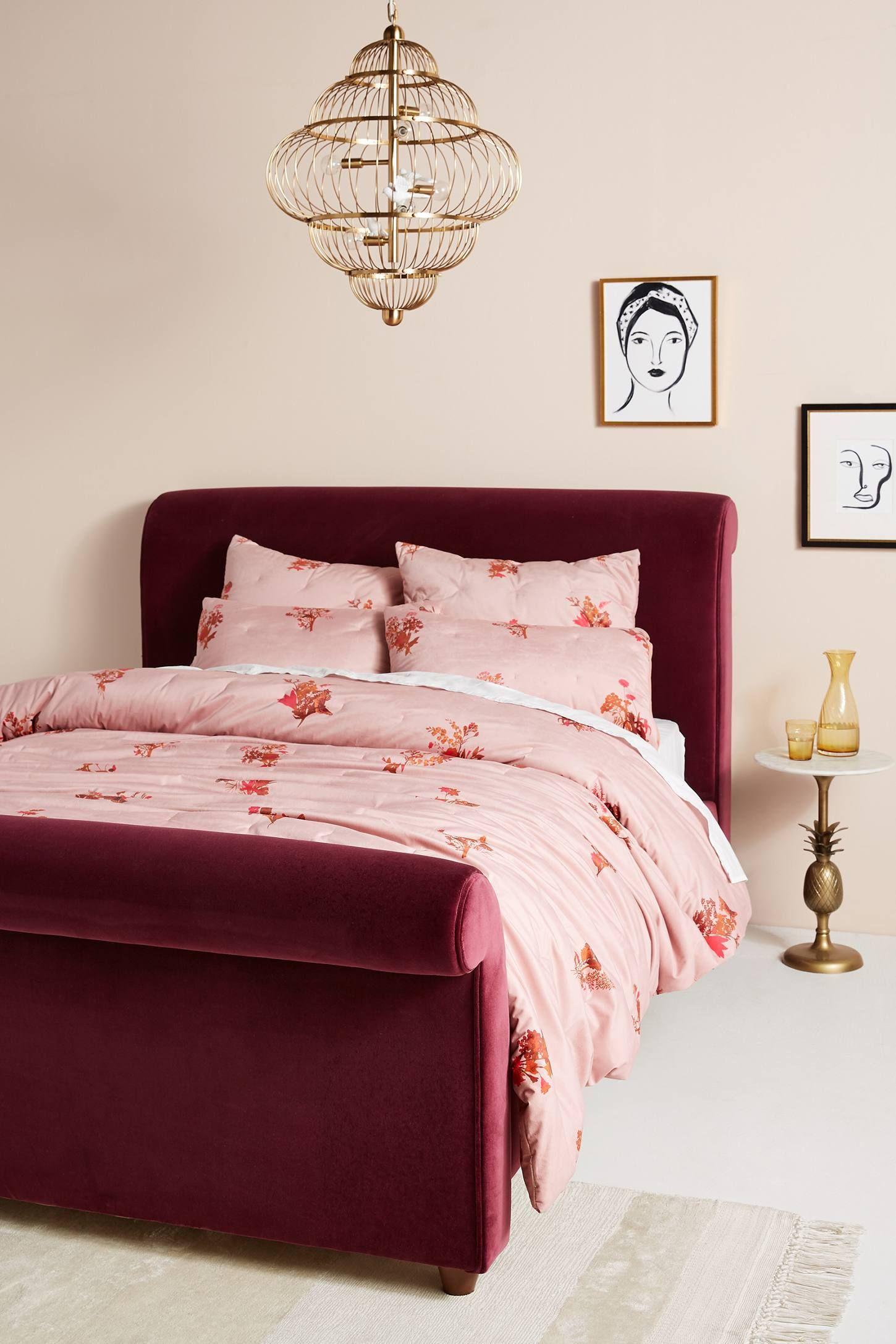 Velvet Violette Quilt Anthropologie bedroom, Flat decor
