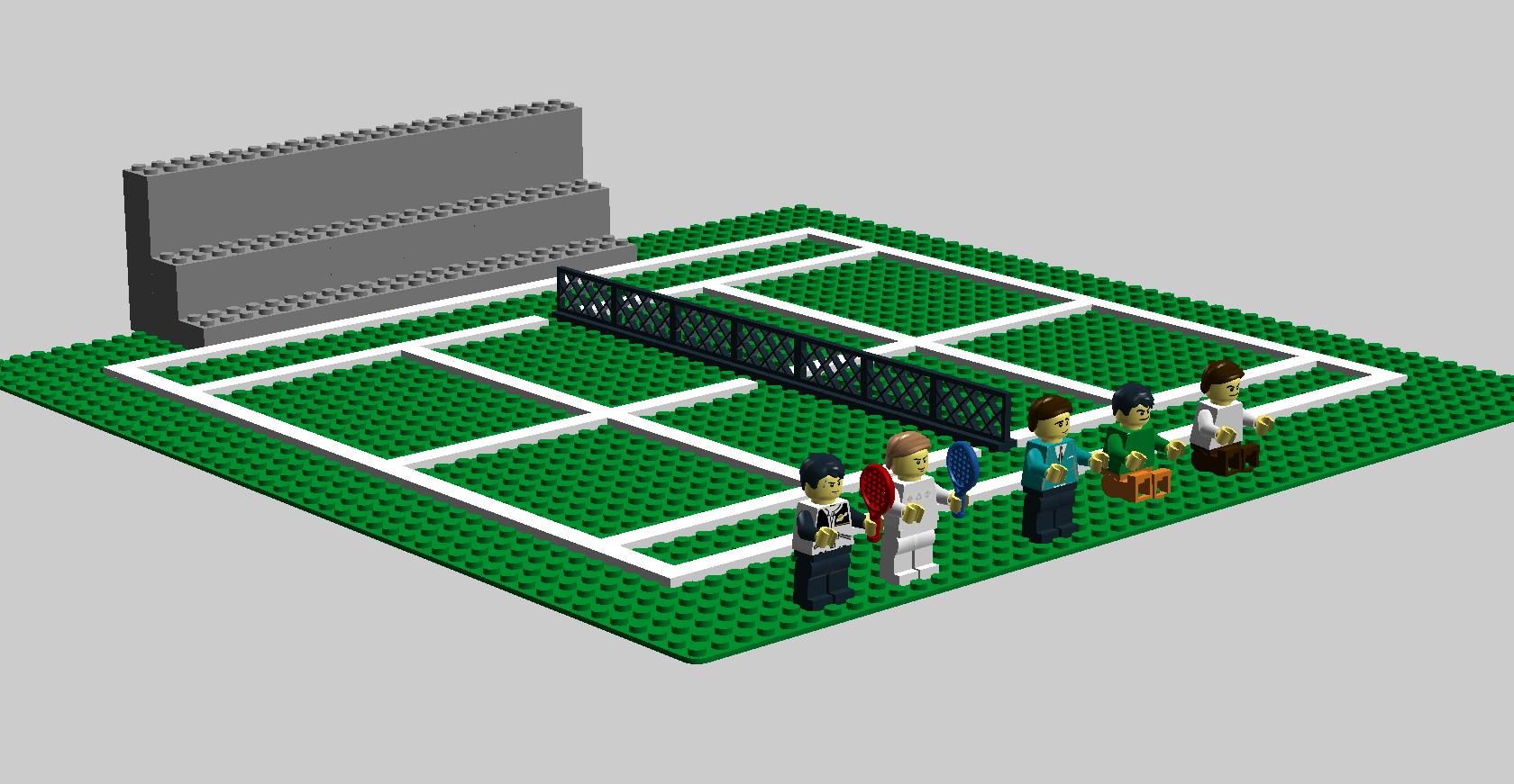 Grass Tennis Court Tennis Court Legos Tennis