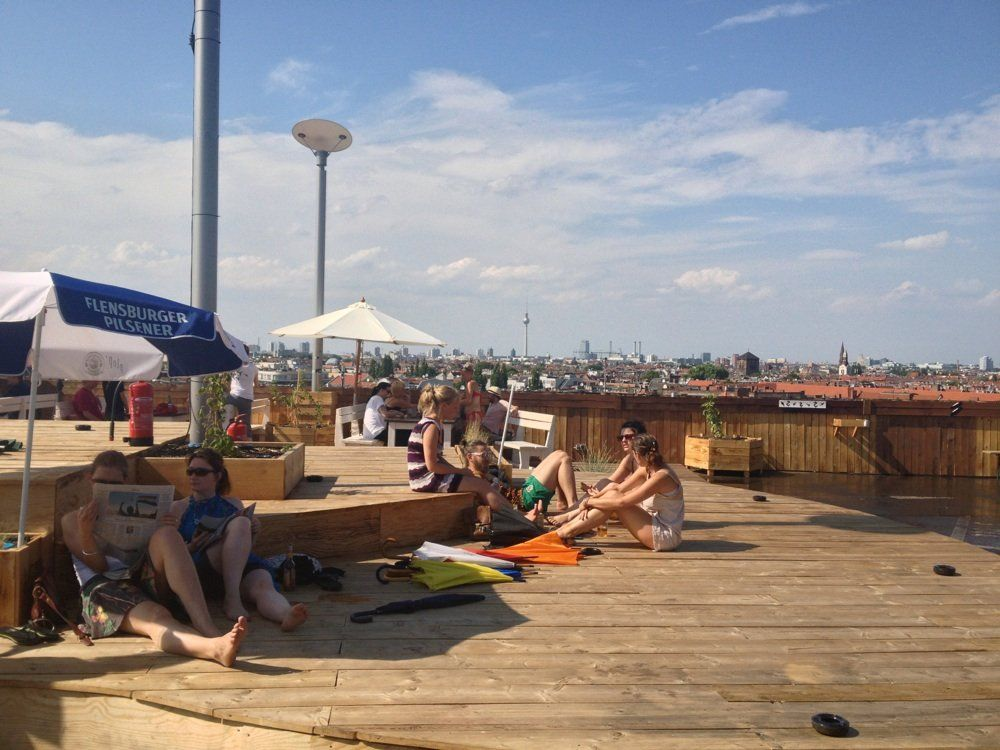Bar Klunkerkranich On A Rooftop With Community Garden With