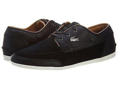 303fcb64b Lacoste Misano Boat Srm Leather suede Mens Black 7-28SRM0075-024 Sneakers