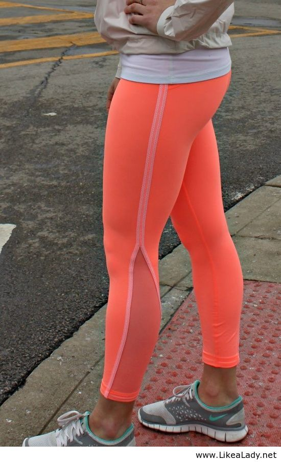 Neon running leggings!  www.facebook.com/technicolorrun