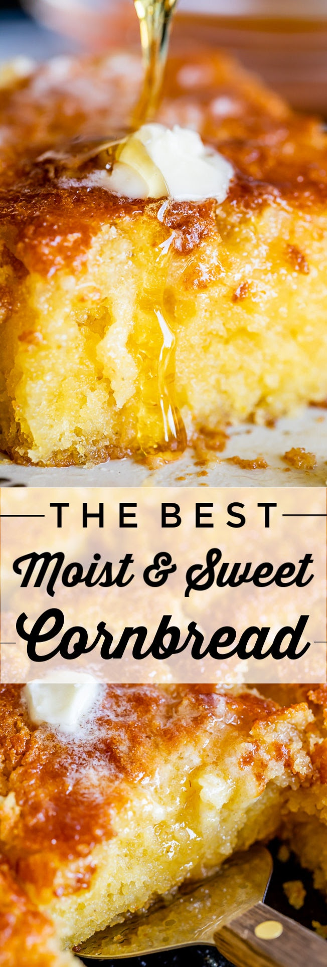 Sweet and Moist Honey Cornbread from The Food Charlatan