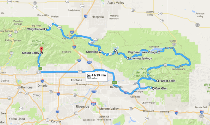 The Refreshing Mountain Town Road Trip In Southern California That - Interactive map of california