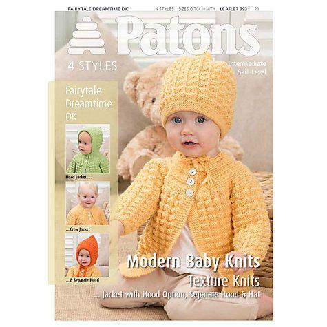Patons Yarn Modern Baby Texture Knitting Pattern | Baby ...