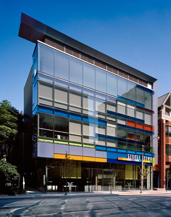 This Is The George Brown College Culinary School By Kearns Mancini Architects Inc The Adelaide Street Buildi Cultural Architecture Architecture Brown College