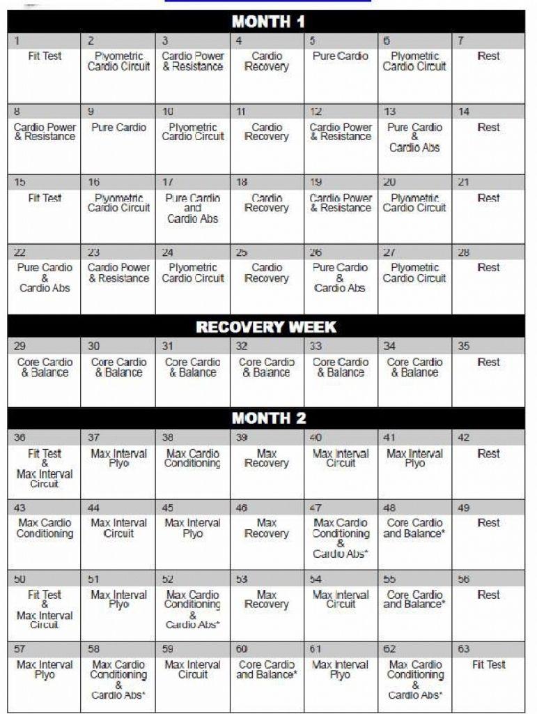 Insanity Workout Day 1 : insanity, workout, Insanity, Calendar, Month, Workout, Calendar,, Schedule,