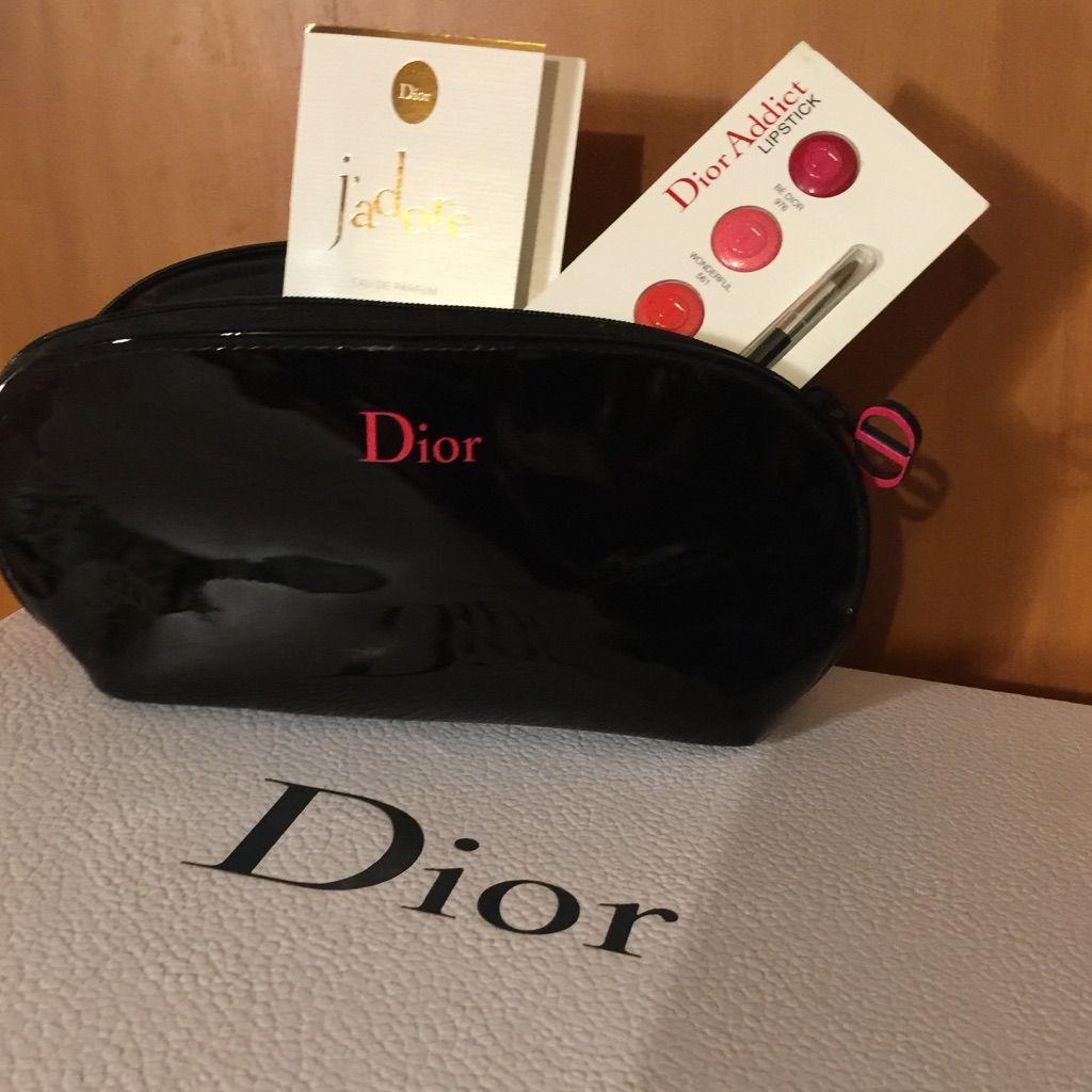 Dior Makeup Bag With Samples
