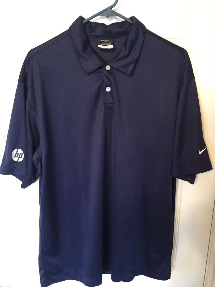 Nike Golf Dri Fit Polo Shirt Mens Sz Large Hp Logo Fashion