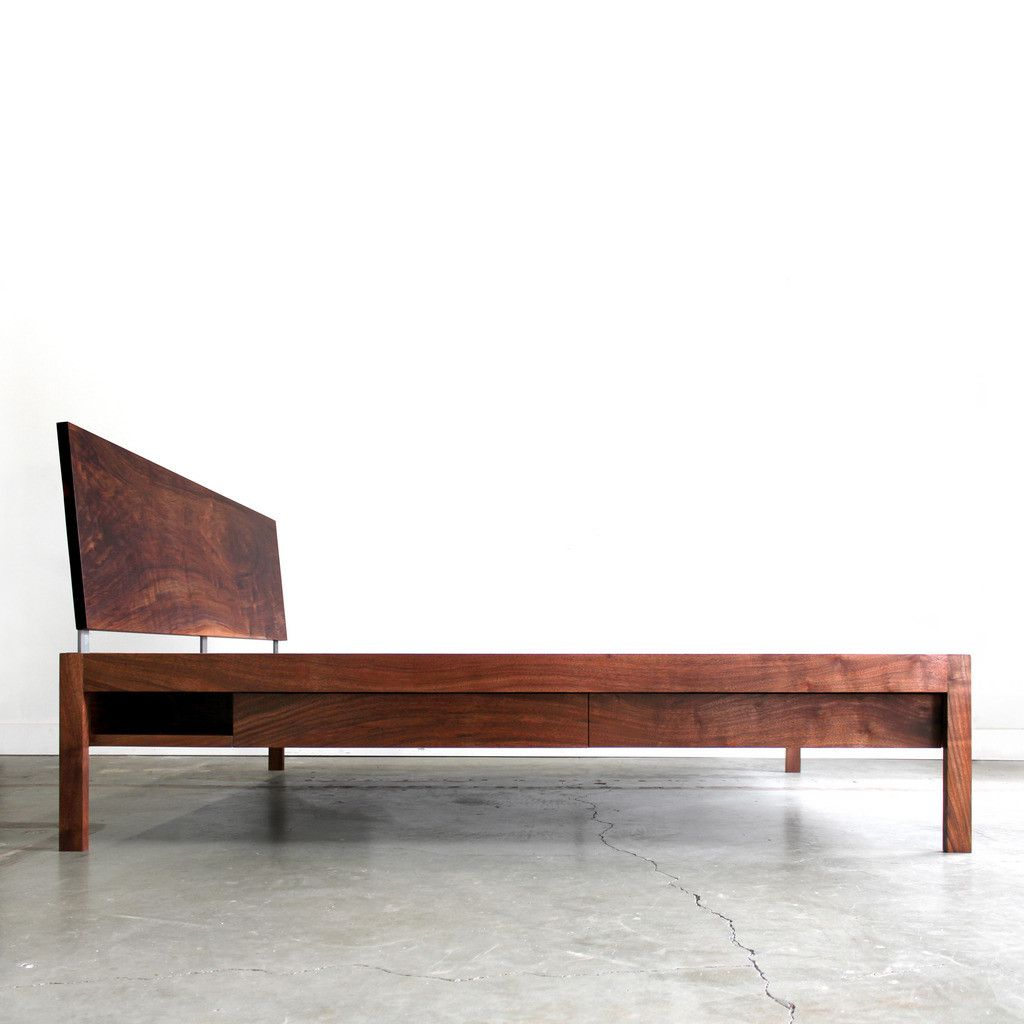 Handmade modern wood furniture - Chadhaus Chadhaus Handmade Modern Solid Wood Loft Bed With Storage Made In Seattle