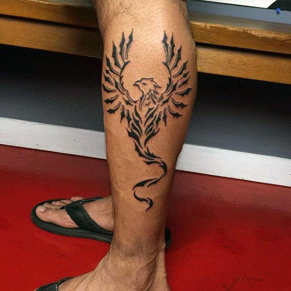 40 Tribal Phoenix Tattoo Designs For Men