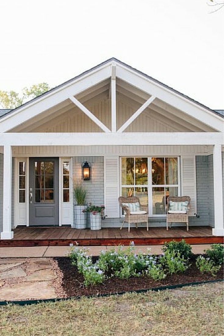 Amerikanische Veranda Stühle Beach House With Fixer Upper Style House With Porch Casas