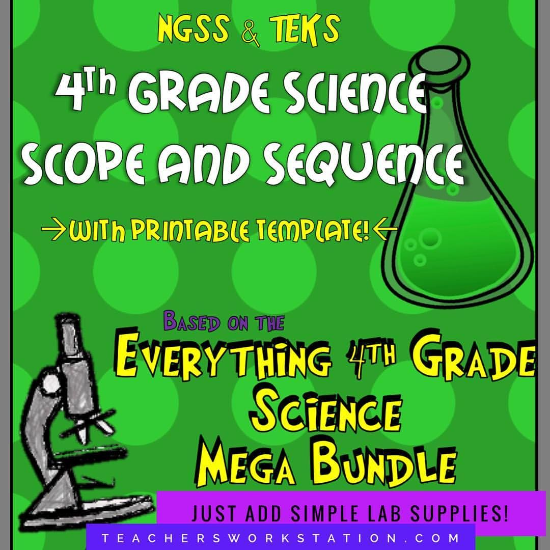 4th Grade Science Scope and Sequence (NGSS & TEKS) | Science for