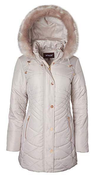 26a4615b3 Sportoli Women s Longer Length Plush Lined Puffer Coat and Zip-Off ...