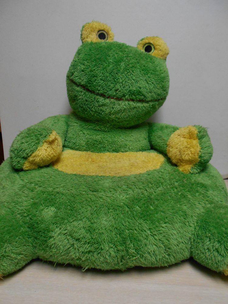 Giant Green Frog Stuffed Plush Arm Chair Children S Frog Shaped Fun