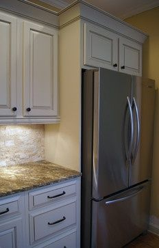 Custom Built In Refrigerator Nook Created For New Counter Depth Fridge By Adding Side Panel And Moving Kitchen Remodel Small Kitchen Plans Kitchen Design Small