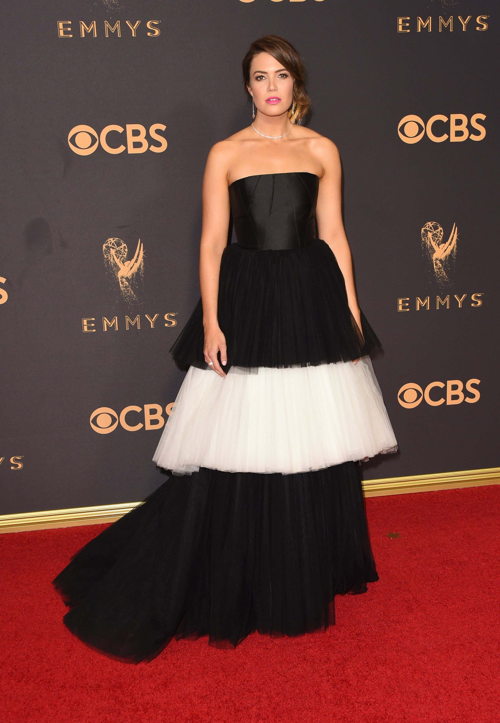 Mandy moore fashion photo white tulle and tulle gown