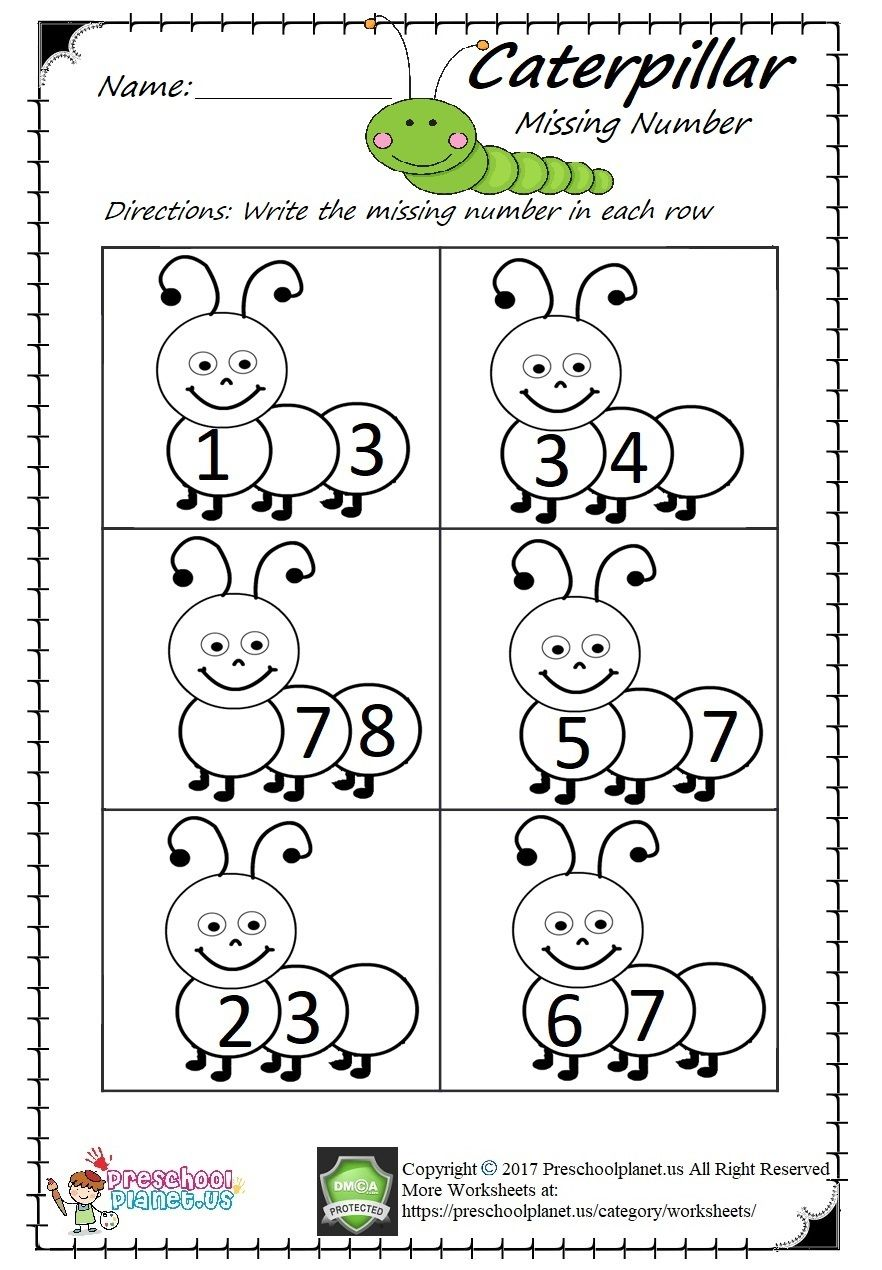 Missing Number Worksheet Pdf easy and printable