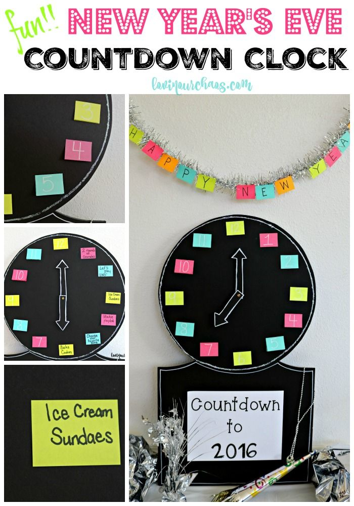 New Year's Eve Countdown Clock Fun for any age