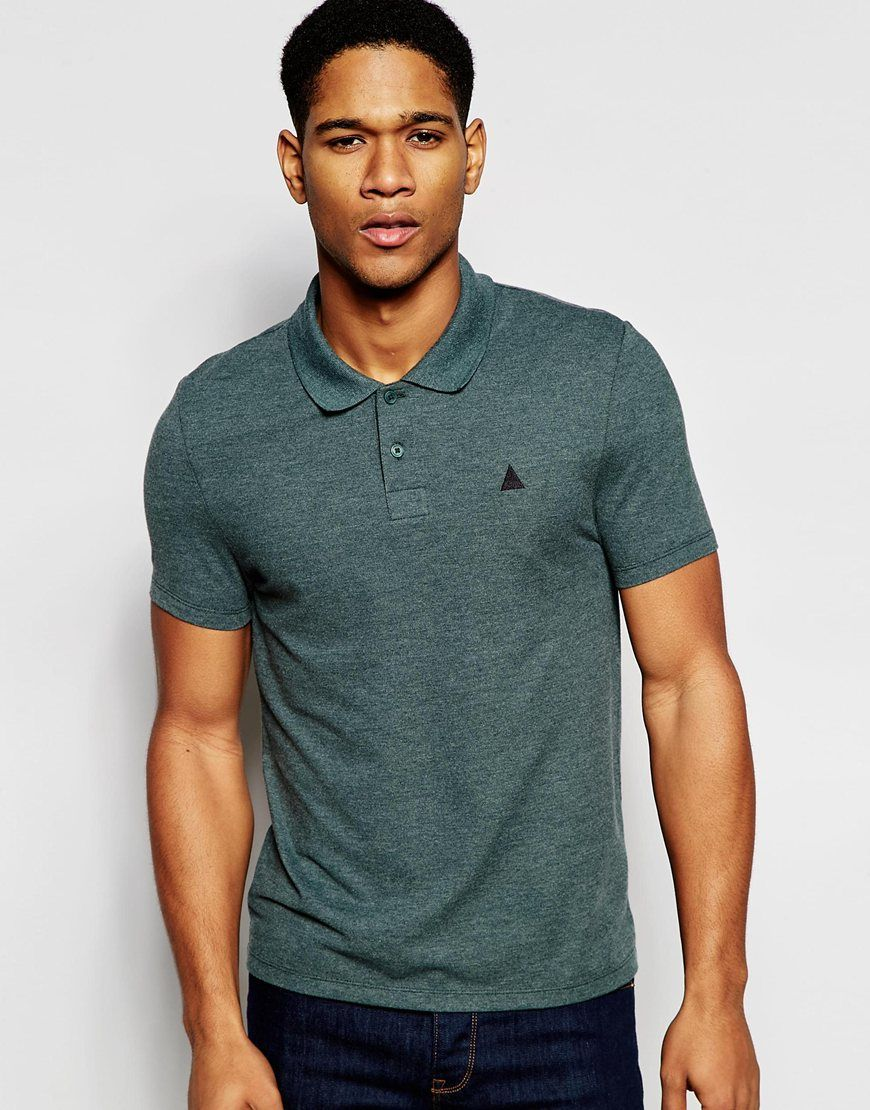 ASOS Pique Muscle Polo With Embroidery In Green