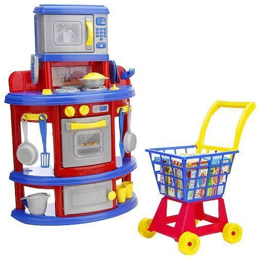 Just like home my very own kitchen and shopping cart playset made just like home my very own kitchen and shopping cart playset made in usa by teraionfo