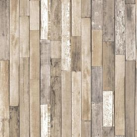 InHome Weathered Plank Barn Peel and Stick Wallpaper