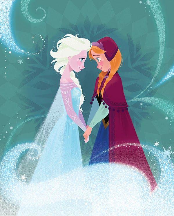 Frozen Family Disney Tegninger Borneseng