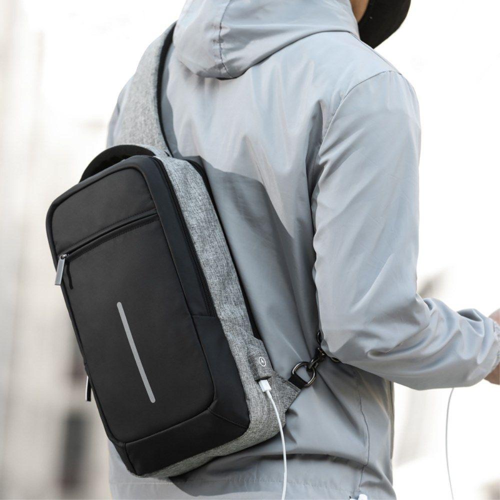 Mens Chest Cross Body Sling Bags Shoulder Messenger Bag Chest Pack Backpack