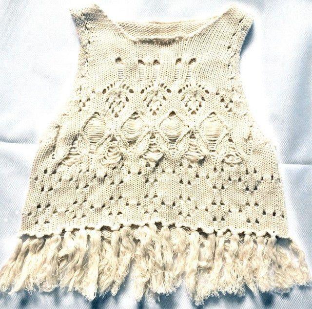 Crochet Tassle Tank | Products | Pinterest