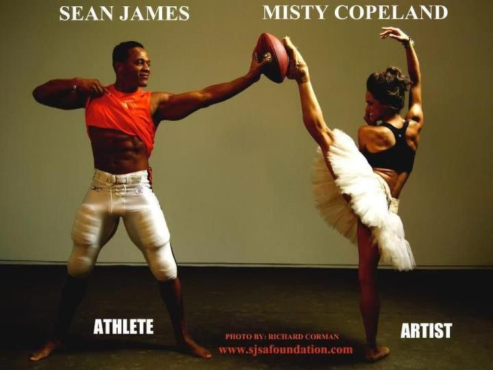 Athletes and Artists: Sean James and Misty Copeland.