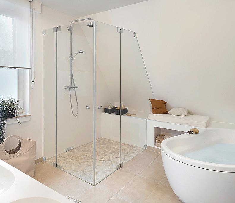 Dusche unter Dachschräge Badgestaltung, Bad, Bodengestaltung