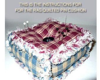 Ashlawnfarms Rag Quilt, Rag Quilted Pincushion, Pattern ... : quilted pincushion patterns - Adamdwight.com