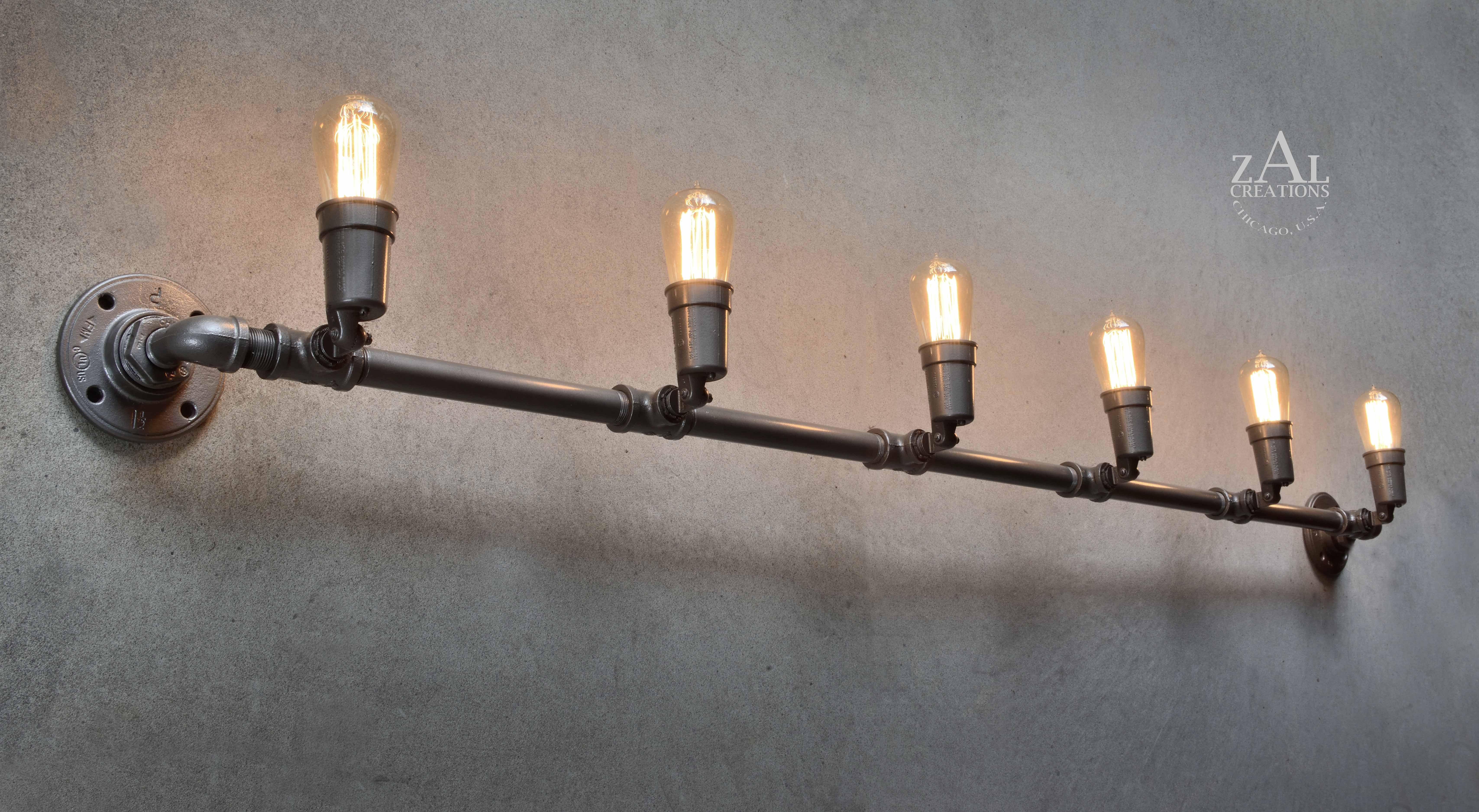 Track Lighting Adjustable Industrial Style Wall Light Etsy Wall Lights Industrial Style Wall Lights Ceiling Lights