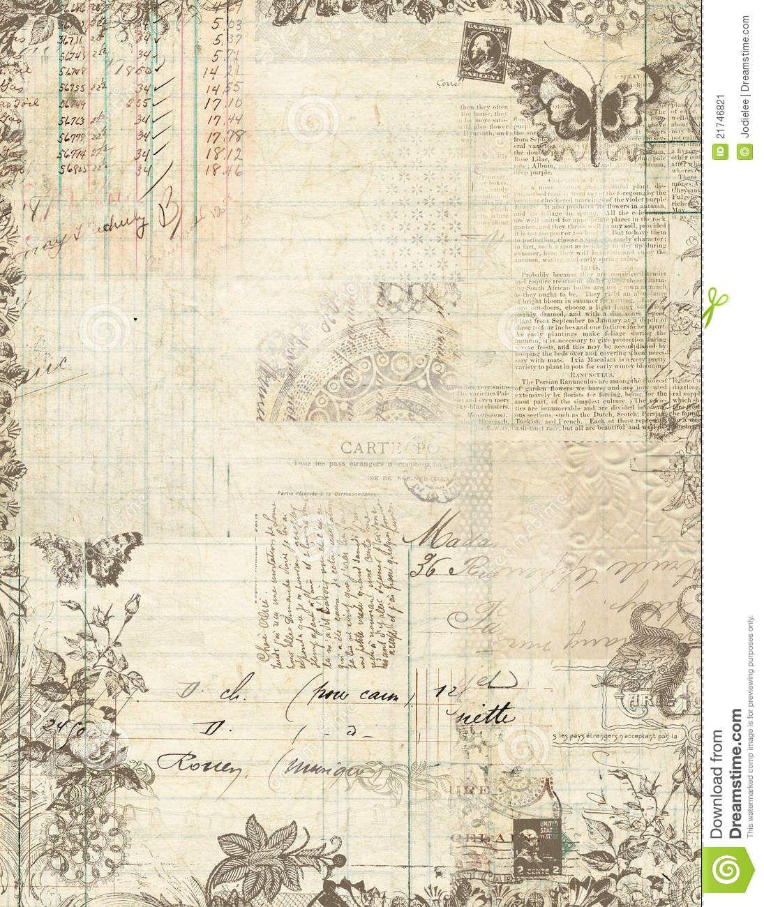 Scrapbook Paper Vintage Pesquisa Google Fondos Pinterest