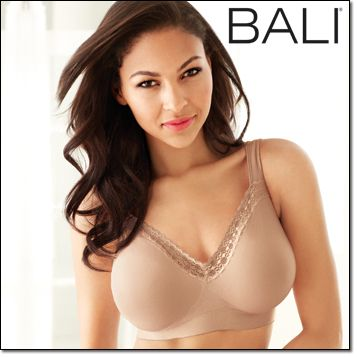 e53d276cd2d05 Avon BALI® COMFORT REVOLUTION® with Smart Sizes™ Wirefree Bra (3484)  Nylon spandex. Hand wash. Imported. White