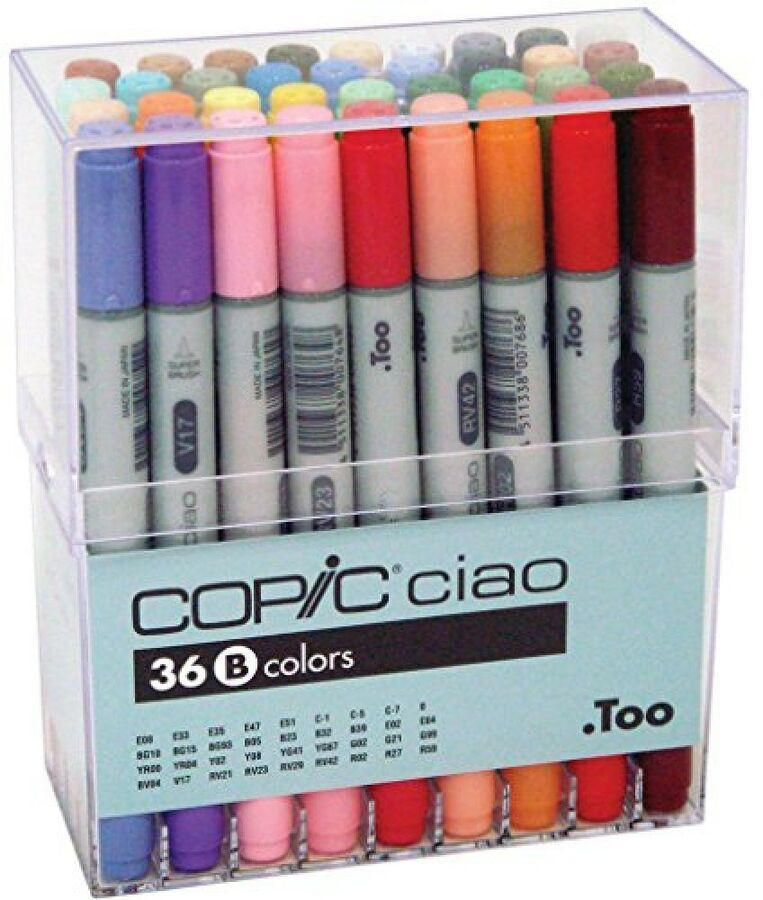 Too Copic Ciao Markers 36 Colors Set B New Free Shipping w/Tracking